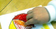 Välivärien sekoitus öljypastelliliiduilla sateenvarjo- ja rantapallokuvaan. Tulostettava pdf Watermelon, Pdf, Fruit, Food, Essen, Meals, Yemek, Eten