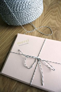 Twine is a great detail for stationery!