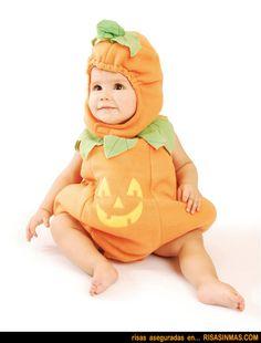 Disfraz para Halloween de beb calabaza Humor e imgenes