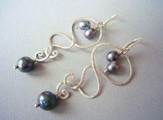 CHANDELIERS Sterling Silber & Süßwasserperlen von SCHMUCK. by felicitas mayer auf DaWanda.com