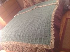 Queen size Crocheted Afghan.  t