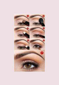Simple, natural looking makeup tutorial for those beautiful Brown eyes.