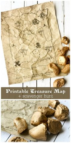 Fun kids activity idea: printable map with scavenger hunt clues