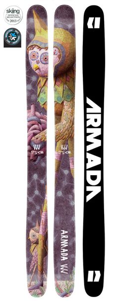 VJJ   ARMADA SKIS - Worth riding just for the name. Combine with great graphic and Armadas skill, Take them on every ski trip.