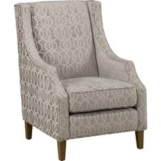 Jofran Quinn Accent Chair ($400) ❤ liked on Polyvore featuring home, furniture, chairs, accent chairs, grey, spring chair, nailhead chair, antique white chairs, beige accent chair and cream chair
