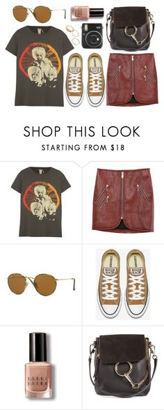 """Let It Go"" by smartbuyglasses ❤ liked on Polyvore featuring MadeWorn, Ray-Ban, Bobbi Brown Cosmetics, Chloé, Fuji, black and brown"