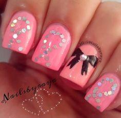 Breast Cancer nail art.