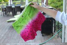 DIY: Short customizados como una sandia.