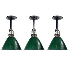 1stdibs.com   Nicely Detailed Industrial Dome Lamps - 3 matching lamps in stock