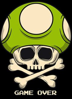 Hongo skull on behance Arte Do Kawaii, Video Game Art, Skull And Bones, Skull Art, Mario Bros, Graffiti Art, Cool Art, Tattoo Designs, Character Design