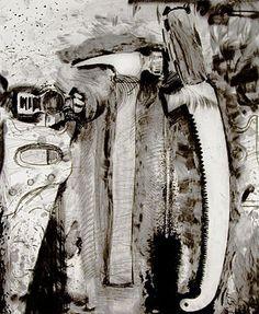 "Artist: Jim Dine ""Pruning, 2008"" Artist Research Page, James Rosenquist, Jim Dine, Claes Oldenburg, Jasper Johns, Valentines Art, A Level Art, Man Vs, Everyday Objects"
