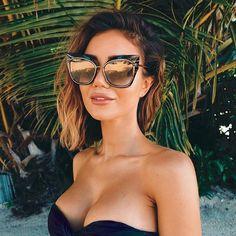 Pia Muehlenbeck wears the STORMY cat-eye sunglasses by DITA Eyewear.