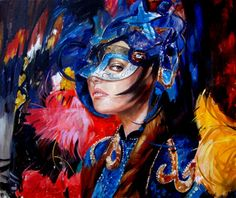 """Saatchi Online Artist Chingiz Abassov; Painting, """"""""The girl in the mask"""""""" #art"""