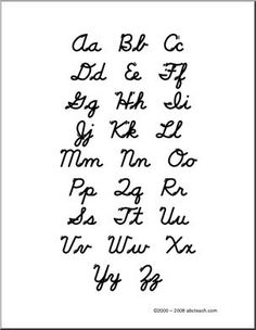 uppercase lowercase cursive alphabet charts with arrows in pdf pinteres. Black Bedroom Furniture Sets. Home Design Ideas