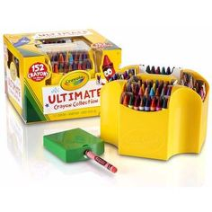 Variety is the spice of life, and your child will love having tons of options with the Crayola 152 Piece Ultimate Crayon Collection . This crayon. Cool Toys For Girls, Crafts For Girls, Arts And Crafts Supplies, Art Supplies, School Supplies, Office Supplies, Fine Motor Skills, Learning Skills, Crayons