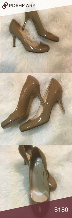 "Kate Spade Lori Platform Pump, 5 Nude WORN ONCE.                                                           Leather Leather insole Heel measures approximately 4"" Platform measures approximately 1.25"" kate spade Shoes Heels"