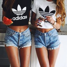 #summer #fashion / denim short shorts