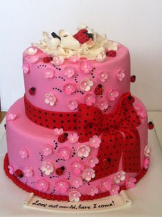 ladybugs Baby Bump Cakes, Baby Shower Cakes, Cupcakes, Cupcake Cakes, Beautiful Cakes, Amazing Cakes, Little Girl Cakes, Ladybug Cakes, Creative Cakes