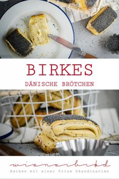 Birkes - Wienerbrød - baking with a pinch of Scandinavia , Birkes, Danish rolls made from Danish pastry with poppy seeds / Birkes, Danish roll made of puff pastry with poppy . Puff Recipe, Puff Pastry Recipes, Savory Pastry, Japanese Pastries, How To Cook Ham, Spinach And Feta, Cream Recipes, Pastry Shop, Yummy Food