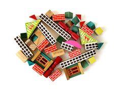 Wooden BUILDING Blocks - Made in Japan. Via Etsy.