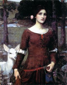 John William Waterhouse (1849 - 1917). The lady Clare 1900
