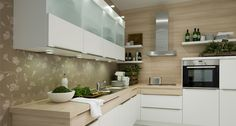 Combination Nolte kitchens with a matching worktop provides a stunning kitchen design solution