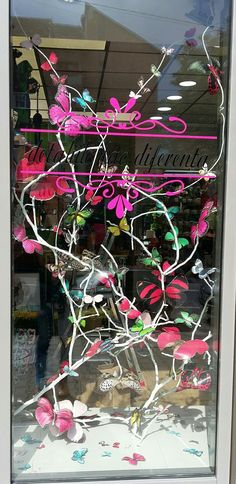 Handmade Window Decoration: Butterfly invasion