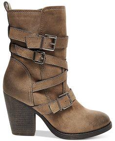 Madden Girl Kloo Buckle Booties - Booties - Shoes - Macy's
