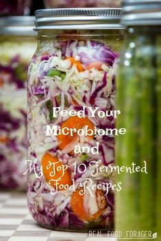 Feed Your Microbiome and My Top 10 Fermented Food Recipes, Grab recipes for my favorite fermented foods to make at home! Best Probiotic, Probiotic Foods, Clean Eating Recipes, Healthy Eating, Real Food Recipes, Healthy Recipes, Drink Recipes, Veggie Recipes, Healthy Food Alternatives