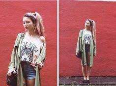 ♡Anita Kurkach♡ - Sheinside Coat, Oasap T Shirt, Sheinside Shorts, Alisonman Shoes, Bornpretty Hair Cuff - Back to school!