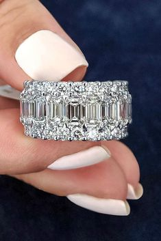 The Most Popular And Inspiring Ring Trends 2019 ring trends diamond wedding rings round cut diamond rings beautiful wedding rings wedding ring sets modern wedding rings white gold wedding rings Gold Diamond Wedding Band, Wedding Rings Rose Gold, Wedding Rings For Women, Diamond Bands, Diamond Engagement Rings, Solitaire Diamond, Emerald Cut Eternity Band, Diamond Anniversary Rings, Solitaire Rings