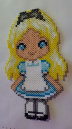 Alice perler beads by Scarlett-Ibis on DeviantArt