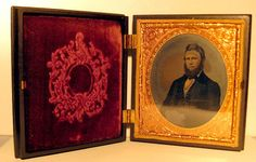 Antique Victorian Tintype In Ornate Gutta Percha by openslate