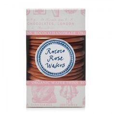 Rococo Organic Milk Chocolate Rose Wafers From HarveyNichols.com