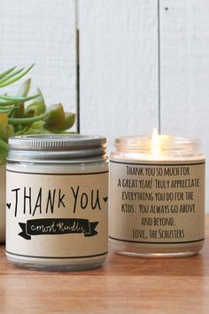"""""""Thank You Most Kindly"""" Candle Best Teacher Gifts, Best Gifts, Parent Gifts, Student Gifts, Staff Appreciation Gifts, Shower Hostess Gifts, Personalized Wine Labels, Personalized Thank You Gifts, Little Presents"""