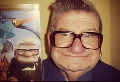 The old man from Pixar's UP is real! #pixar #up