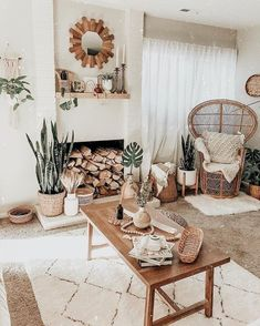 30 Boho Living Room Ideas – Bohemian decoration inspiration for your living room. Beautiful boho rooms, where you can be inspired for your own Bohemian room. Living Room Decor Cozy, Boho Living Room, Bohemian Living, Living Area, Living Room Inspiration, Home Decor Inspiration, Decor Ideas, Wall Ideas, 31 Ideas