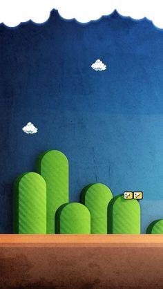 Classic Mario iPhone 5 wallpaper