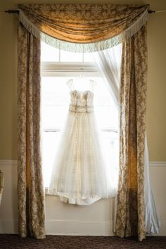 Ali Hormann Photography www.alihormann.com  Our silk curtains and antique details make for a gorgeous backdrop for wedding photos - and a beautiful dress doesn't hurt either!