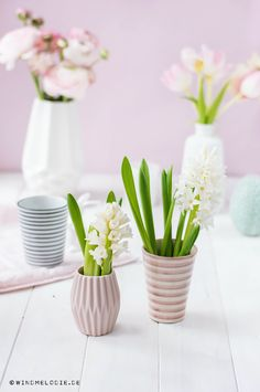 pink pastell spring decoration with beautiful flowers!
