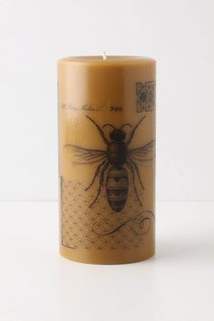 My gorgeous new blood orange pillar candle from Anthropologie with screen printed design.