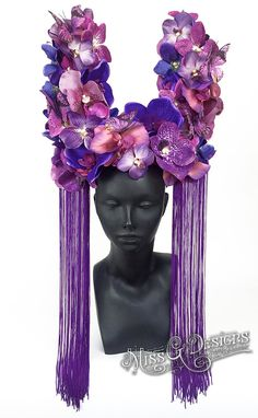 Purple Orchid Headdr