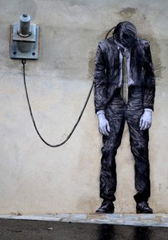 Reload - detail. Street art by Levalet (2 Janvier 2015) Paris XIII