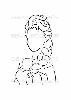 Gcse Disney line drawings Disney Silhouette Art, Disney Silhouettes, Easy Disney Drawings, Disney Sketches, Disney Crafts, Disney Art, Pintar Disney, Character Outline, Disney Lines