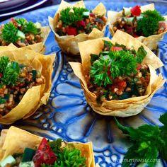 Bulgur Salat im Knusper-Schälchen 2