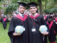 Karrar Hussain Jaffar (left) transcended the confines of an obscure town in Balochistan, where people rarely educate themselves beyond matriculation, to study at the prestigious Harvard University.