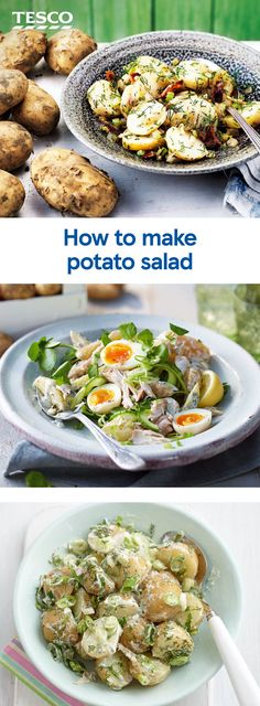 Tasty Dishes, Side Dishes, Barbecue Sides, Salad Recipes, Healthy Recipes, How To Make Potatoes, Tesco Real Food, Fodmap Recipes, Vegetarian Dinners