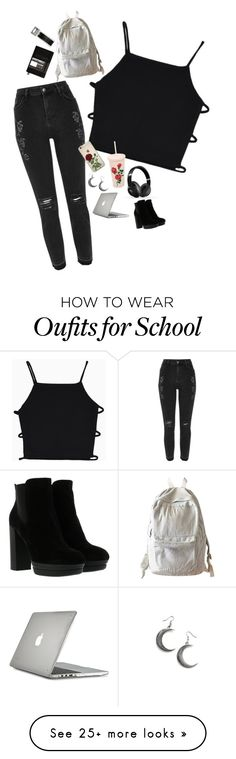"""Untitled #728"" by lame-spacemilk on Polyvore featuring River Island, WithChic, Leuchtturm1917, ban.do, Beats by Dr. Dre, Speck and Hogan"