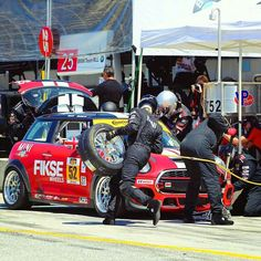 221 best images about MINI on Pinterest | Cars, John cooper works and Graphics That time when the #52 MINI John Cooper Works took a pit stop during the IMSA Continental Tire SportsCar Challenge. #MINI #Motorsport #JCW #IMSA #CTSC #LagunaSeca #Racing #Track #Speed #Racecar #DavidVsGoliath