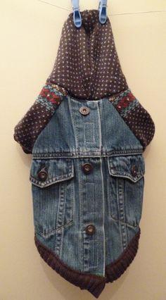 Dog Up-Cycled Sweater/Coat combo. $35.00, via Etsy.